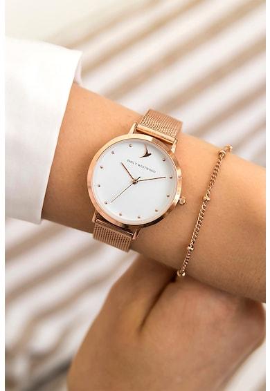 Emily Westwood Set de ceas cu model plasa si bratara, 2 piese Femei