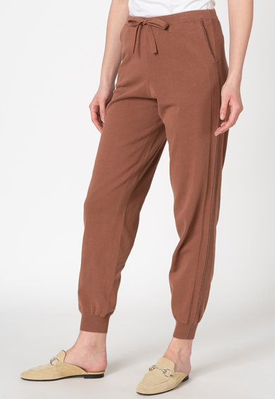 Stefanel Pantaloni jogger cu snur pentru ajustare Femei