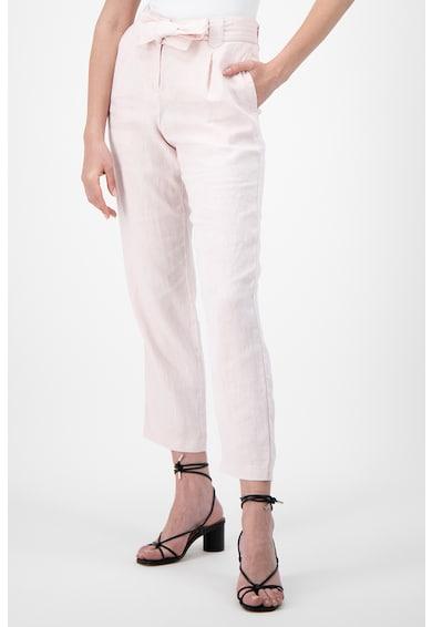 Stefanel Pantaloni crop de in, cu cordon Femei