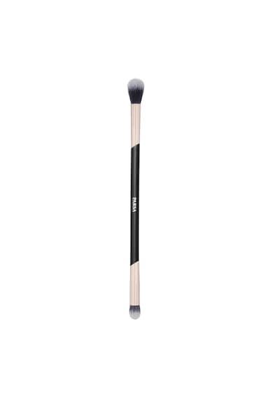 Parsa Beauty Pensula dubla  pentru machiajul ochilor, Negru Femei