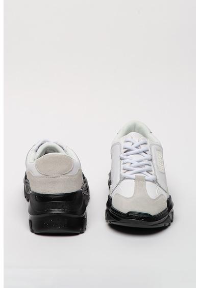 Versace Jeans Couture Pantofi sport de piele cu garnituri de piele intoarsa Speed Barbati
