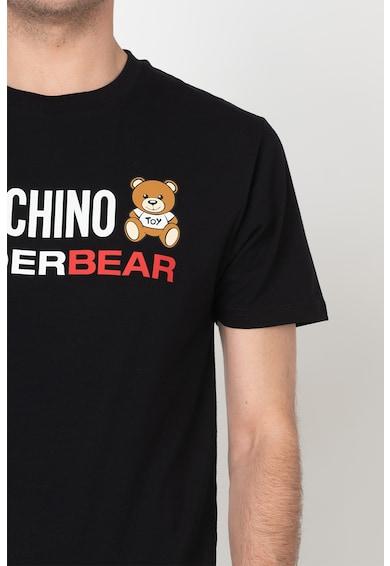 Moschino Tricou de casa cu decolteu la baza gatului si imprimeu logo Barbati