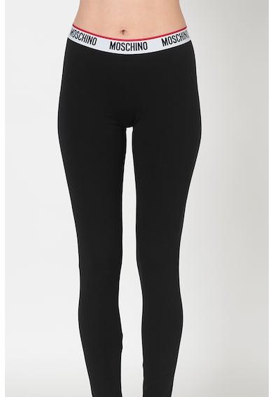 Moschino Pantaloni de pijama cu banda cu logo Femei