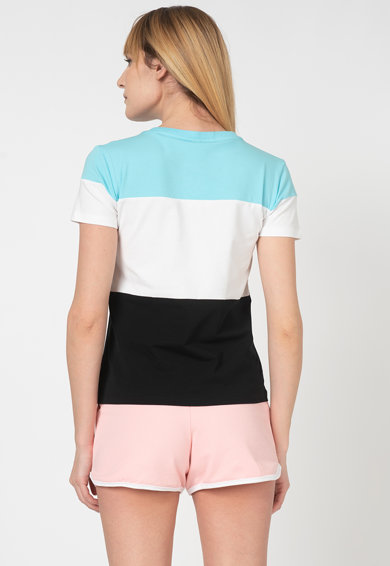 Moschino Tricou de casa cu model colorblock si imprimeu logo Femei