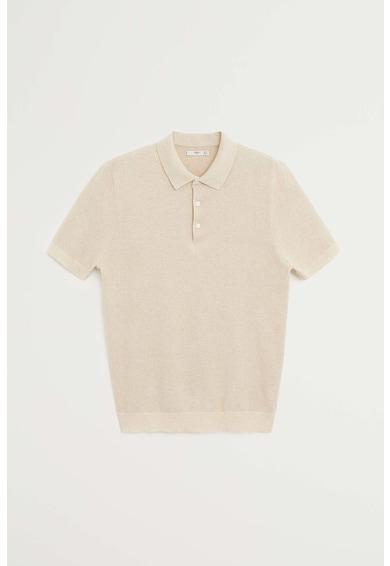 Mango Памучна тениска Pixel с яка Мъже