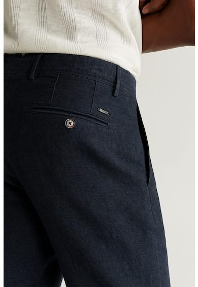 Mango Ленен панталон Oyster по тялото Мъже