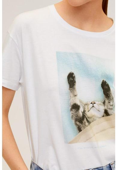 Mango Тениска Pets с фигурална щампа Жени
