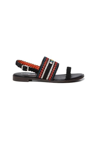 DESIGUAL Sandale cu talpa joasa si broderie Femei