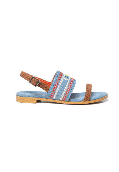 DESIGUAL Sandale din denim cu broderie Femei
