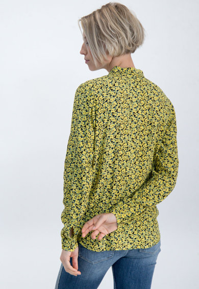 Garcia Camasa cu model floral si guler clasic Femei