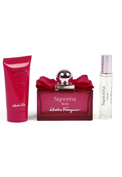 Salvatore Ferragamo Set  Signorina Ribelle, Femei: Apa de Parfum, 100 ml + Lotiune de corp, 50 ml + Apa de Parfum, 10 ml Femei