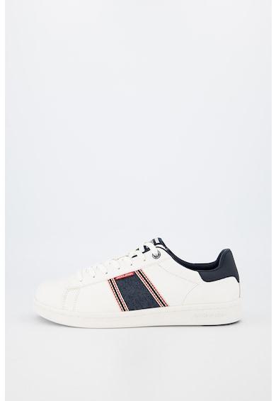 Jack&Jones Pantofi sport din piele ecologica cu insertii din denim Banna Barbati