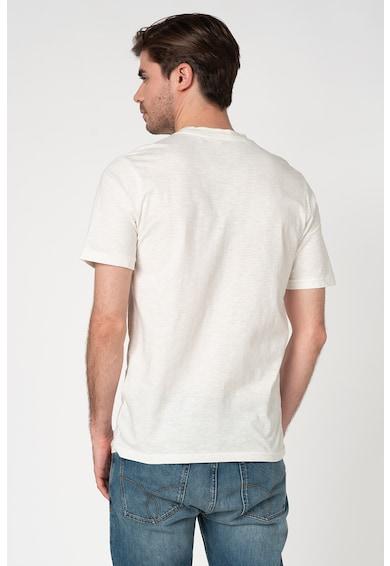 Selected Homme Tricou din bumbac organic cu imprimeu grafic Cali Barbati