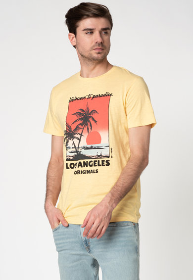 Jack&Jones Tricou regular fit cu imprimeu frontal Kallo Barbati