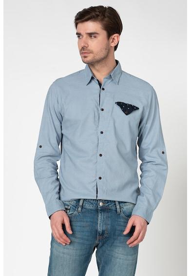 Jack&Jones Риза Chandler с лен и джоб на гърдите Мъже