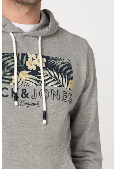 Jack&Jones Суитшърт Tropic с джоб тип кенгуру и качулка Мъже