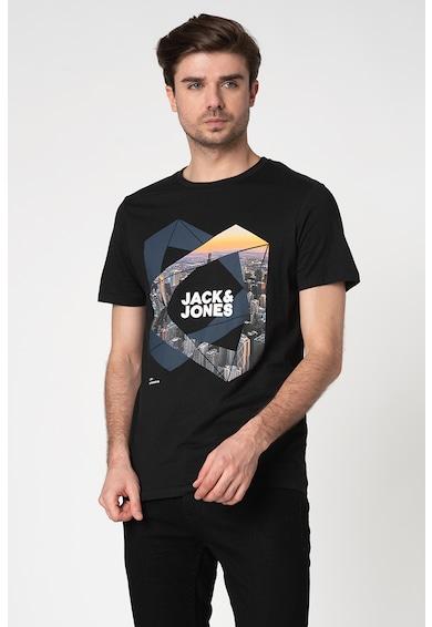 Jack&Jones Tricou slim fit cu imprimeu grafic Ifter Barbati