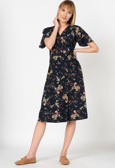 Vero Moda Rochie cu croiala petrecuta si model floral Kissey Femei