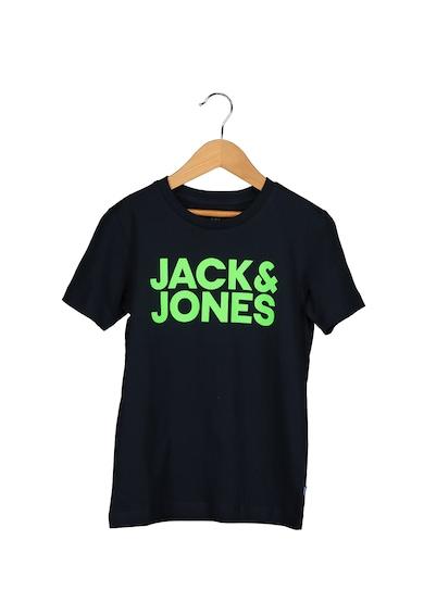 Jack&Jones Tricou cu decolteu la baza gatului si imprimeu logo Bob Baieti