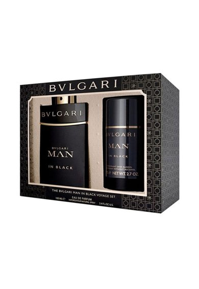 BVLGARI Set  Man in Black, Barbati: Apa de Parfum 100 ml + Deodorant Stick, 75 ml Barbati