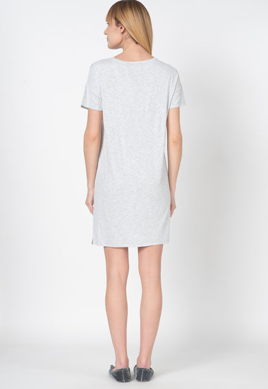 Triumph Camasa de noapte cu croiala dreapta si model in dungi Femei