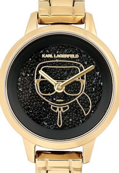 Karl Lagerfeld Ceas de otel inoxidabil cu logo pe cadran Femei