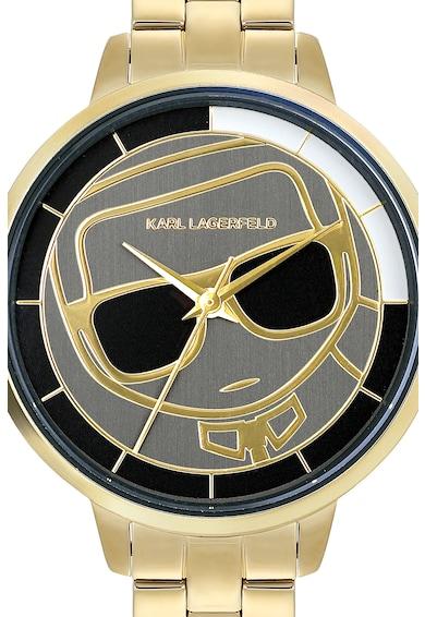 Karl Lagerfeld Ceas de otel inoxidabil Ikonik Silhouette Femei
