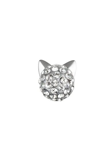 Karl Lagerfeld Cercei cu tija placati cu rodiu si decorati cu cristale Swarovski Femei