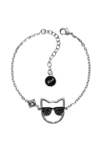 Karl Lagerfeld Bratara cu talisman, decorata cu cristale Swarovski Femei