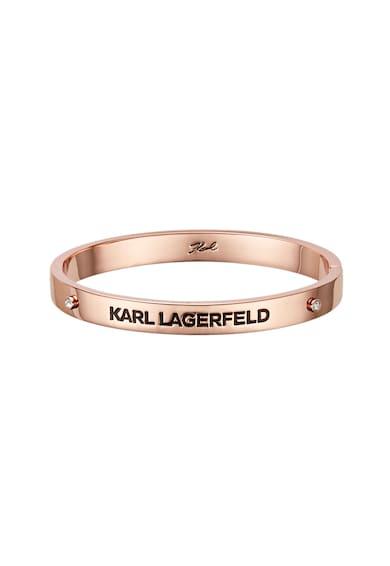 Karl Lagerfeld Bratara rigida cu logo stantat Femei