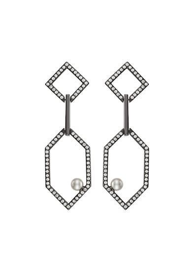 Karl Lagerfeld Cercei hexagonali cu perle de sticla Femei