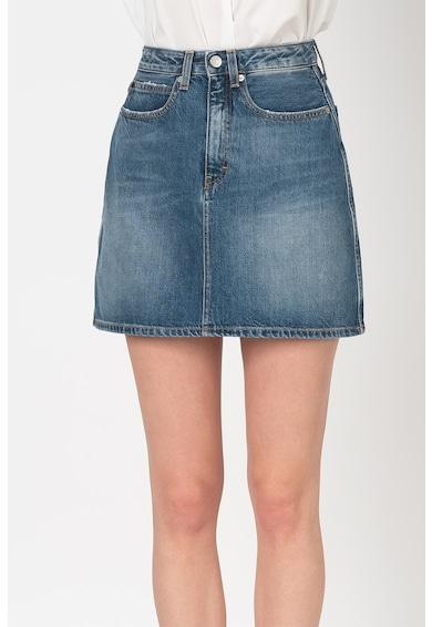 Calvin Klein Jeans Къса пола със захабен ефект Жени