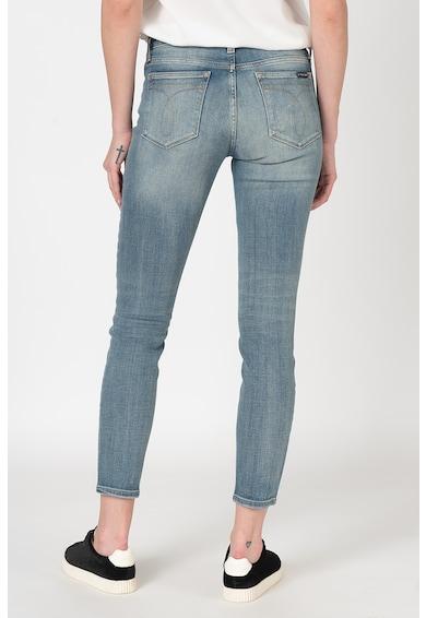 Calvin Klein Jeans Blugi skinny cu talie medie si aspect deteriorat Femei