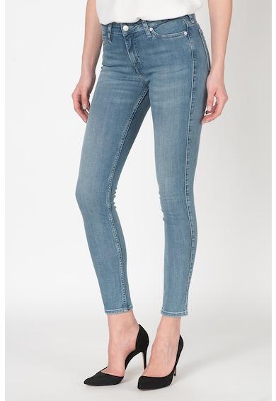 Calvin Klein Jeans Blugi super skinny cu aspect decolorat Femei