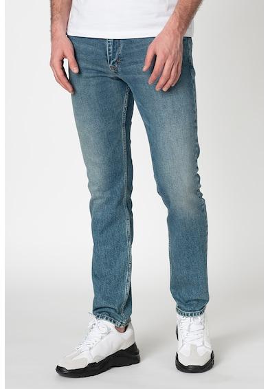 Calvin Klein Jeans Blugi skinny cu detalii cu aspect decolorat Barbati