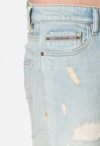 Calvin Klein Jeans Blugi skinny cu croiala conica Barbati