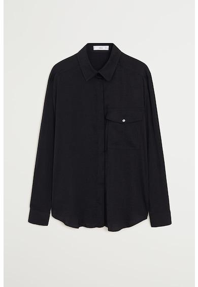 Mango Ефирна риза Greta с джоб на гърдите Жени
