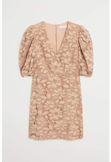 Mango Дантелена рокля Katri с бухнали ръкави Жени