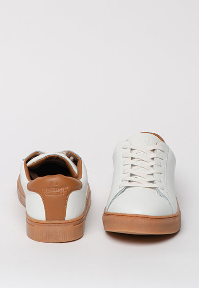 BLEND Pantofi sport de piele cu talpa contrastanta Barbati