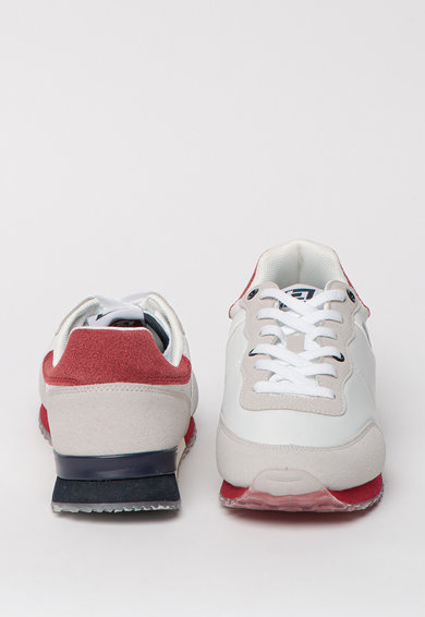 BLEND Pantofi sport de piele ecologica, cu detalii contrastante Barbati