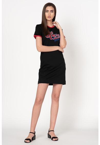 Love Moschino Rochie tip tricou cu aplicatie din paiete Femei