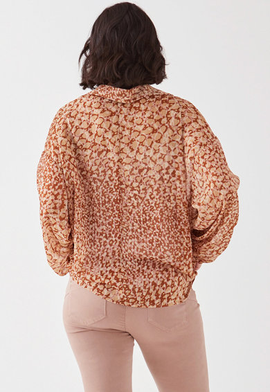 Fiorella Rubino Bluza vaporoasa cu detalii drapate Femei