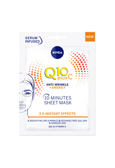 Nivea Masca servetel  Q10 Plus C Femei