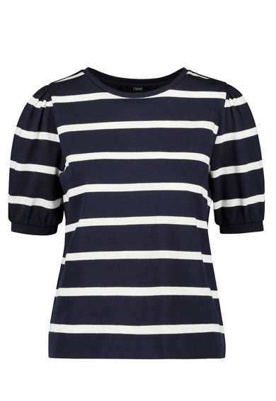 NEXT Bluza cu model in dungi si maneci bufante Femei