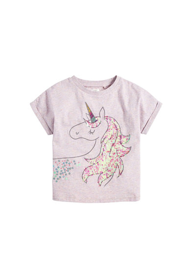 NEXT Tricou cu model unicorn cu paiete Fete
