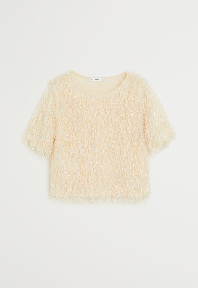 Mango Къса тениска Furry Жени