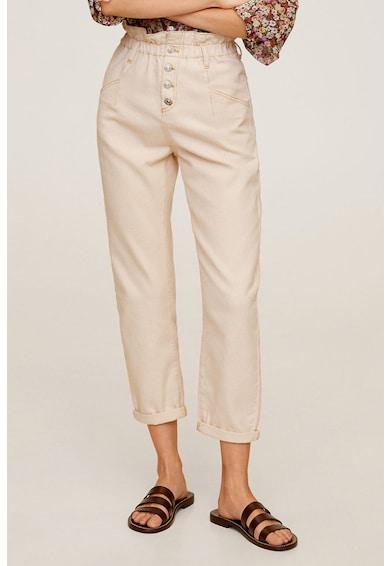 Mango Панталон Paperbag с висока талия Жени