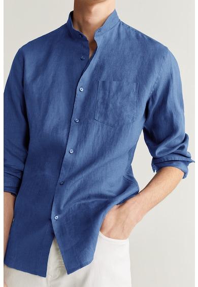 Mango Ленена риза Chennai с ниска яка Мъже