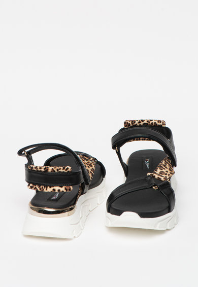 Tosca Blu Sandale cu talpa wedge si inchidere velcro Ponza Femei