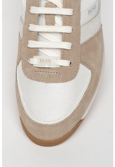 Boss Pantofi sport cu detalii de piele Glaze Barbati